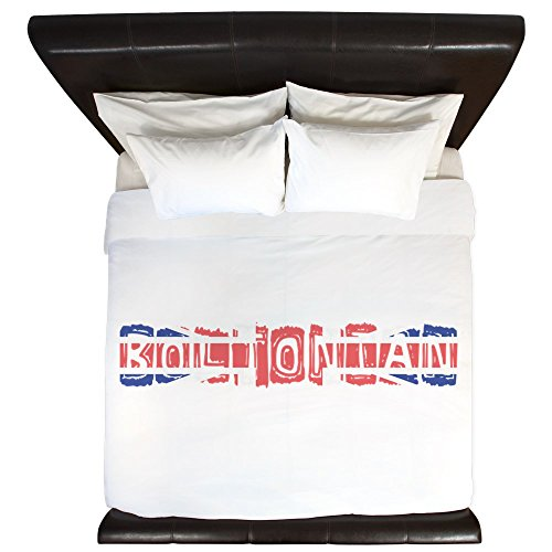 Square Union Comforter (CafePress - Boltonian - King Duvet Cover, Printed Comforter Cover, Unique Bedding, Microfiber)