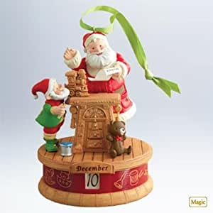 "1 X 2011 Hallmark "" TWAS THE MONTH BEFORE CHRISTMAS"" Countdown Ornament - QXG4719"