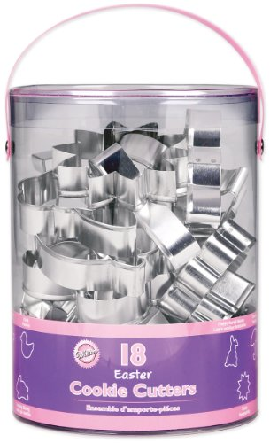 Wilton 2308-1134 Spring 18 Piece Metal Cookie Cutter Set