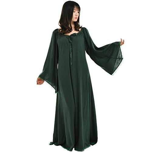 (BLESSUME Medieval Renaissance Women Green Gown)