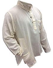 Shopoholic Fashion Plain Grandad Shirt