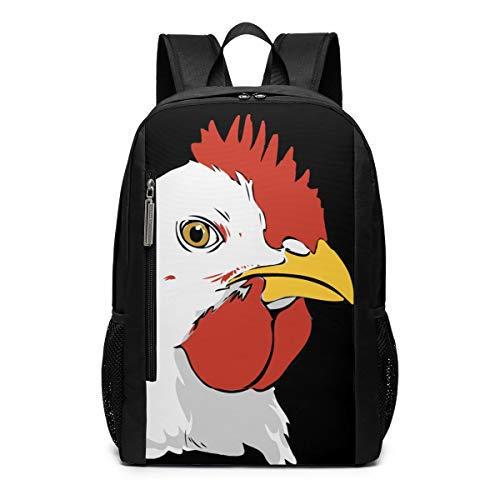 Chicken Clipart - Chicken Clipart Face Outdoor Travel Laptop Backpack Travel Accessories, Fashionable Backpack Suitable for 17 Inches