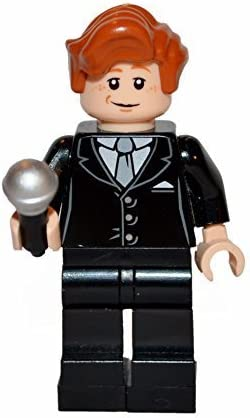 LEGO Conan O'Brien Custom with Microphone. All Official Parts.