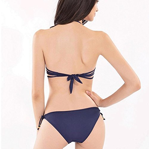 Traje de baño de las señoras Impresión de mariposa de perforación caliente de espalda correas reunirse traje de baño de bikini Bikini B