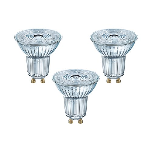 Osram, Bombilla LED GU10, plástico, blanco cálido, 2,3 W 240 V, 3 piezas