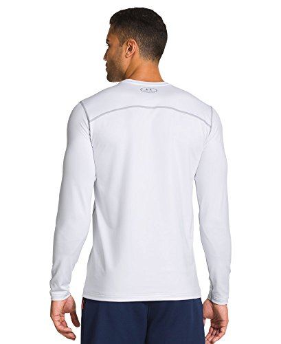 Under Armour Evo ColdGear Fitted Crew - Men's White / Steel Large by Under Armour (Image #1)