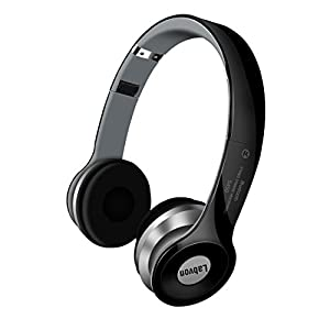 Labvon Rechargeable Wireless Bluetooth Noise Canceling Foldable Over Ear Headphones with Mic, Black (black1)