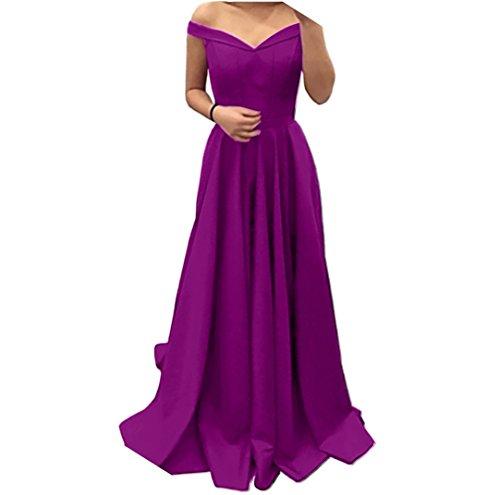 Lang A Rot Abendkleider Ausschnitt Violett Abschlussballkleider Damen Promkleider Rock Einfach Charmant Partykleider Linie V UTwvqaz
