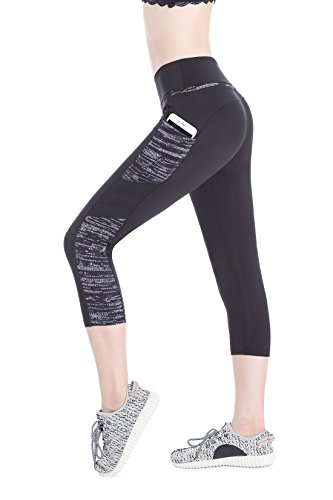 6ca5d4517 Annjoli Women s Workout Running Leggings Yoga Capris Pants Pocket (L