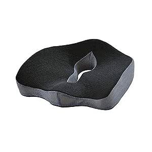 AstiVita Premium Orthopaedic Memory Foam Cushion - Memory Foam Pillow - Sciatica Coccyx Pillow - Plane/Car/Office Chair Seat Cushion(Black) - Body Pillow