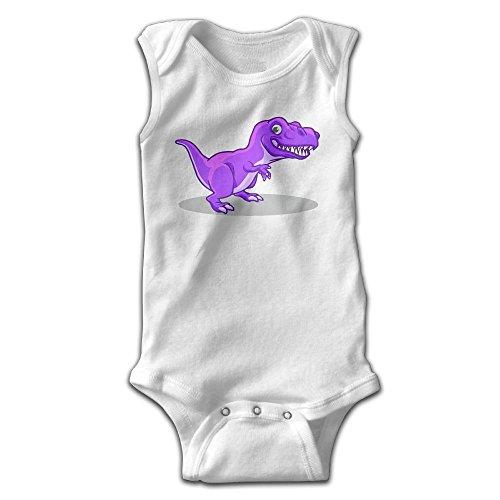 Price comparison product image PPF&YR6 Baby Boys Girls Clothes Purple Dinosaur Bodysuit,  Sleeveless