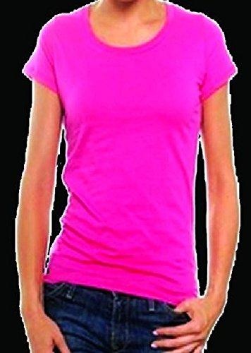 0a08206c783 Mondial-Fete - T-Shirt Fluo Femme Rose  Amazon.fr  Jeux et Jouets