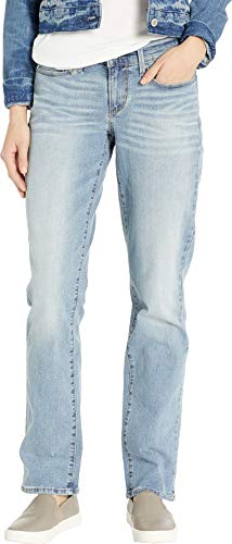 Signature by Levi Strauss & Co Women's Curvy Straight Jeans Pants, Blue Velvet, 14 ()