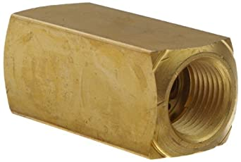 "Parker 003393002 339 Series Brass Check Valve, 3/8"" NPT Female"
