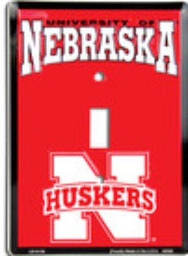 Novelty Single - University of Nebraska Cornhuskers Collegiate Vanity Metal Novelty Single Light Switch Cover Plate LS10129