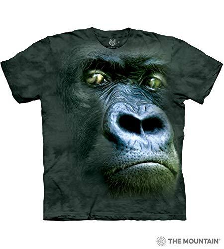 The Mountain, Silverback Portrait Gorilla Ape Short Sleeve T-shirt, Green, Adult M