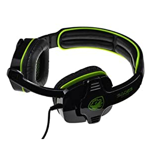 Sades SA-708 3.5mm Audio Plug Professional Gaming Headphone Headset Earphone with Mic Microphone for PC Laptop Notebook (Green)