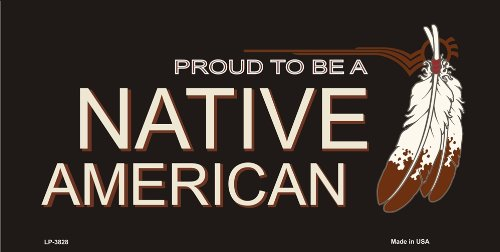 Smart Blonde LP-3828 Proud To Be A Native American Metal Novelty License Plate - Native American License Plates