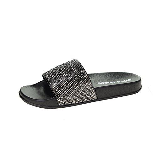 Wasgoed Fargo Slide Dames Sandaal Zwart