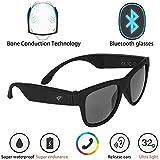 Veecome G1 Glasses Bone Conduction Headphone Ear Carer Touch Panel Filter UV Ray Sunglasses Bluetooth 4.0 Headset Black