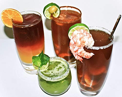 Home Comforts Peel-n-Stick Poster of Mojito Shrimp Drinks Clamato Sunrise Menu Beer Vivid Imagery Poster 24 x 16 Adhesive Sticker Poster Print