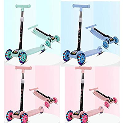 Cascat Durable Portable Kick Scooters Folding with Flash Light Sliding Children Scooter : Sports & Outdoors