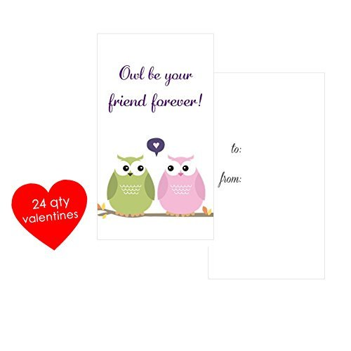 Amazon Com Owl Valentines Cards Owl Be Your Friend Forever