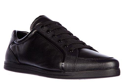 Prada Femmes Chaussures En Cuir Baskets Noires