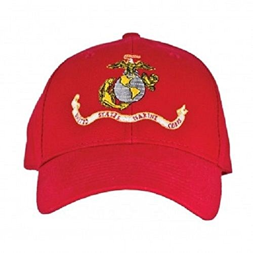USMC Marines Marine Corps Red Vintage EGA ball cap hat cover