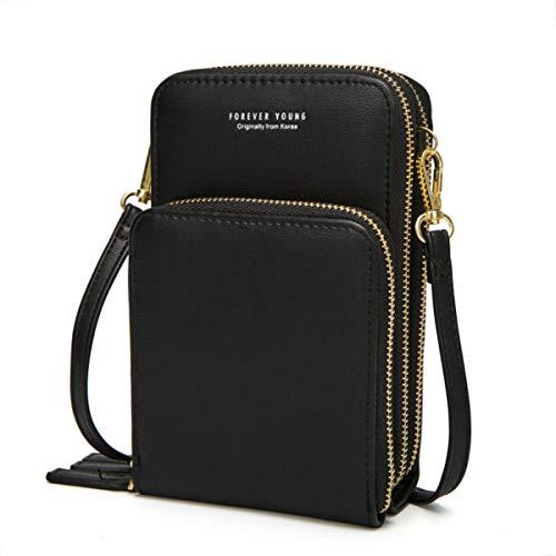 Leather Crossbody Wallet Shoulder YUNEIK product image