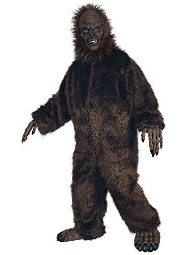 Seasons Hk Mens Deluxe Big Foot Adult Costume Brown Standard