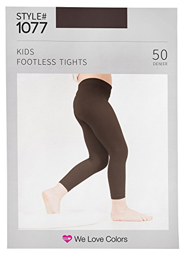 Soft and Opaque Kids Microfiber Footless Tights - 30 Colors to choose! - We Love Colors - Ages 6 months - 14 Years ()