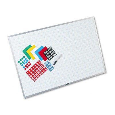 Magna Visual EBK-2436 Magna Visual Lustreboard Planning Kit, Porcelain-On-Steel, 36x24, WE/Aluminum