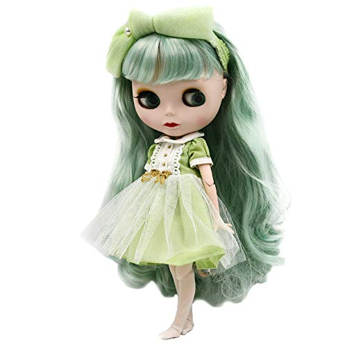 1/6 BJD Doll is Similar to Neo Blythe, 4-Color Changing Eyes Matte Face and Ball Jointed Body Dolls, 12 Inch Customized Dolls Can Changed Makeup and Dress DIY, Nude Doll Sold Exclude Clothes (SNO.50)