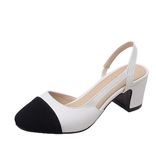 Flats Bianco Punta Assortito Elastico Colore Luccichio Donna Tonda VogueZone009 Ballet Pxwgz8In