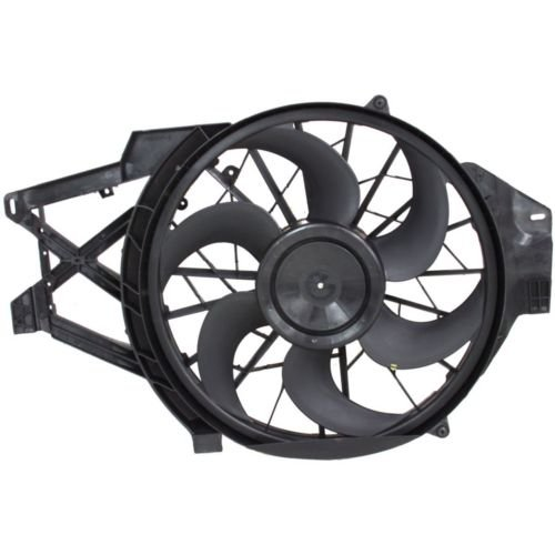MAPM Premium MUSTANG 99-04 RADIATOR FAN ASSEMBLY, Single Fan, 3.8L Eng.