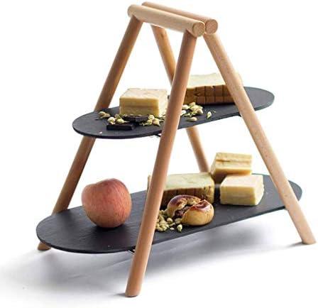 SHUUY フルーツ皿、2ティアフルーツスタンド、ラウンドキッチンは果物野菜スナックのためのカウンター表示ホルダー収納オーガナイザーをプロデュース