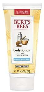Burt's Bees Milk and Honey Body Lotion, 2.5 Ounces