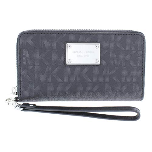 MICHAEL Michael Kors Womens Jet Set Faux Leather PDA Wristlet Black ()