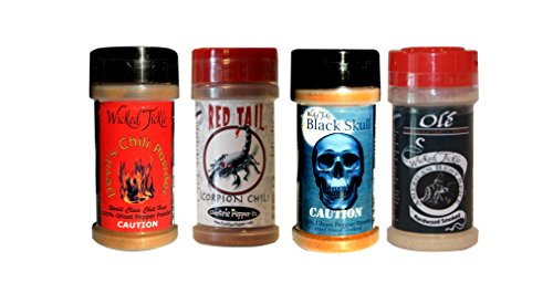 Spice Gift Set Ghost Pepper Powder Trinidad Moruga Scorpion Habanero Chili Hot Spice Pack ()