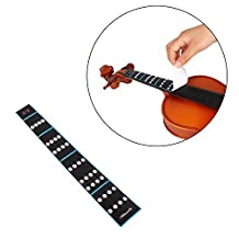 Andoer 3Pcs 4/4 Violin Fiddle Finger Guide Fingerboard Sticker Label Intonation Chart Fretboard Marker for Practice Beginners