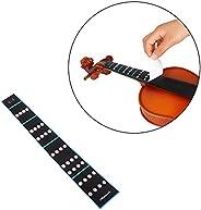 Honorall 3/4 Violin Fiddle Finger Guide Fingerboard Sticker Label Intonation Chart Fretboard Marker for Practi