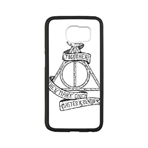 Samsung Galaxy S6 Phone Case White Deathly Hallows WQ5RT7569640