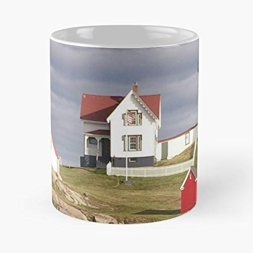 York Maine Nubble Light Lighthouse Gift Coffee/tea Ceramic Mug Father Day