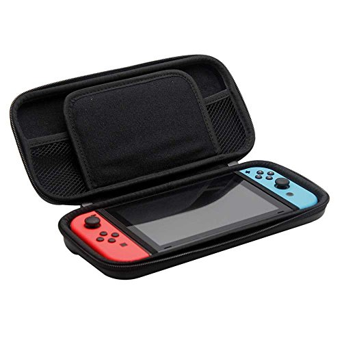 Nintendo Switch Protective Bag, Runhome Waterproof EVA Switch Hard Shell Travel Carrying Case with Game Cart Slots and Soft Inner Padding design