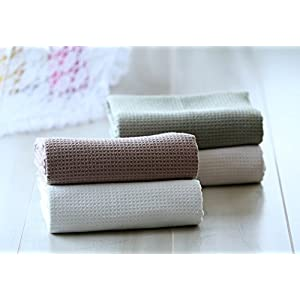 Fina Ultra Absorbent *Waffle Weave* Microfiber Bath Towel in Sage(29 X 55 Inches)