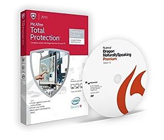 Dragon NaturallySpeaking 13 Premium + McAfee Total Protection Premium Edition (B019JBHYF4) | Amazon Products