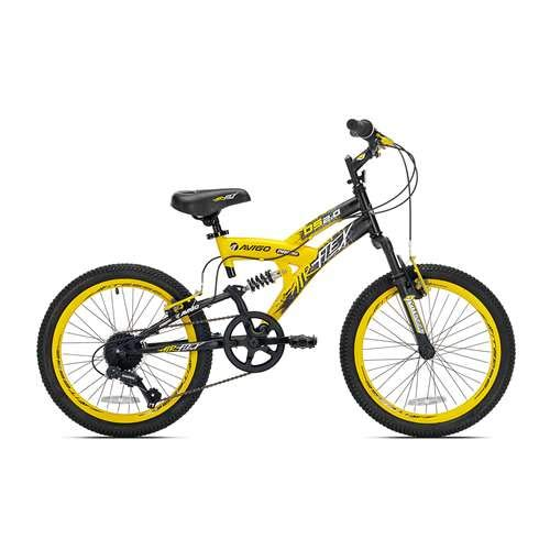 """20"""" Boys Avigo Air Flex Dual Suspension - Yellow Black - Balance Bike - Ride-ons - Outdoor Sports - Air Flex Dual Suspension - Long-lasting Quality and Saving Value - Built with the Latest Bicycle Safety Features"""