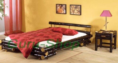 Bambusbett `Khan` in vielen Größen / Möbel und Kolonialstilmöbel/ Variante: Größe: 180*220 cm