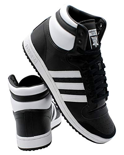 adidas Originals Men's Top Ten Hi Sneaker, core Black/FTWR White/core Black, 13 M US